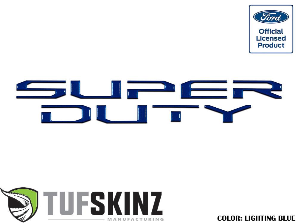 Tufskinz SUP008-GBL-G Hood Inserts Fits 2017-2021 Ford Super Duty 10 Piece Kit in Lightning Blue