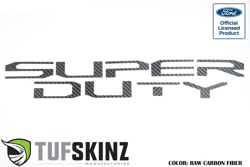 Tufskinz SUP008-RCF-X Hood Inserts Fits 2017-2021 Ford Super Duty 10 Piece Kit Raw Carbon Fiber