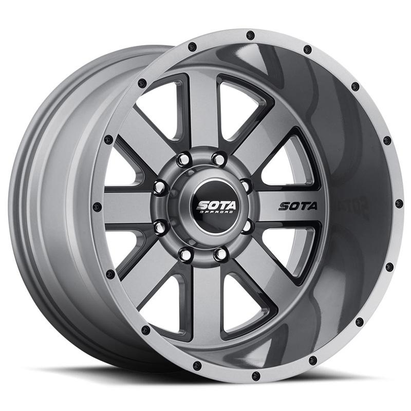 SOTA Offroad A.W.O.L. Anthra-Kote Black 22x10.5 8x6.5 -32mm - 569AB-22196-32