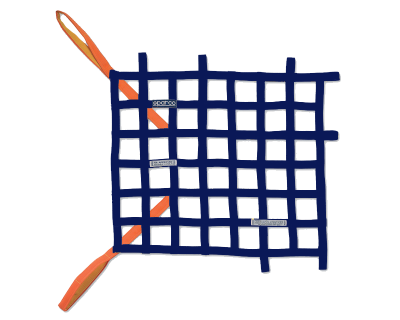 Sparco Navy Blue Racing Window Net