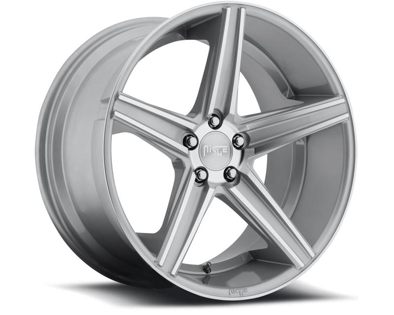 Niche Apex M125 Silver Machined Wheel 22x9 5x120 +25mm - M125229021+25