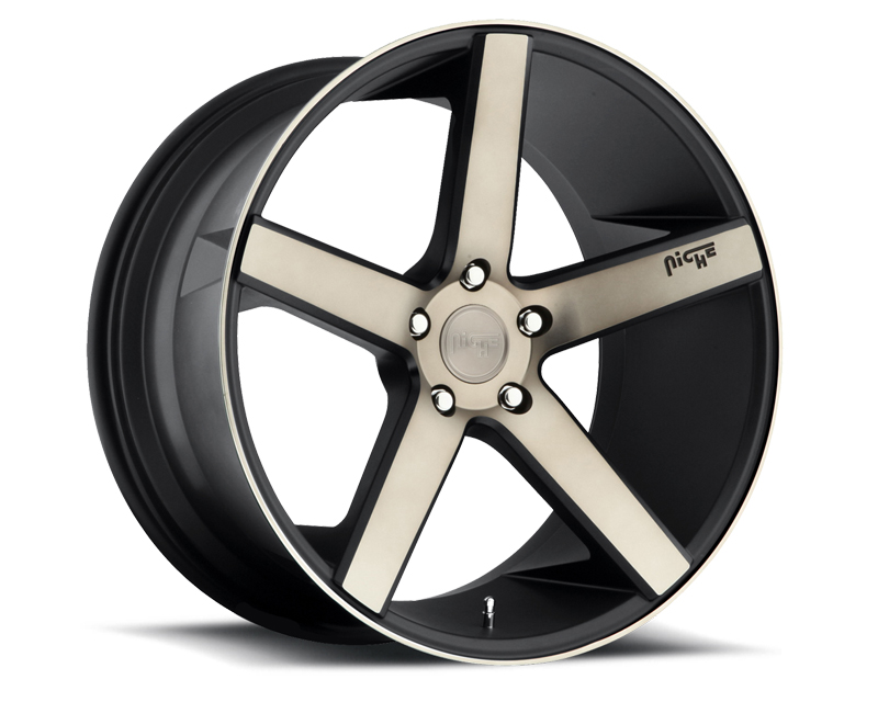 Niche Milan M134 Black Machined Wheel 22x10.5 5x120 +40mm - M134220521+40