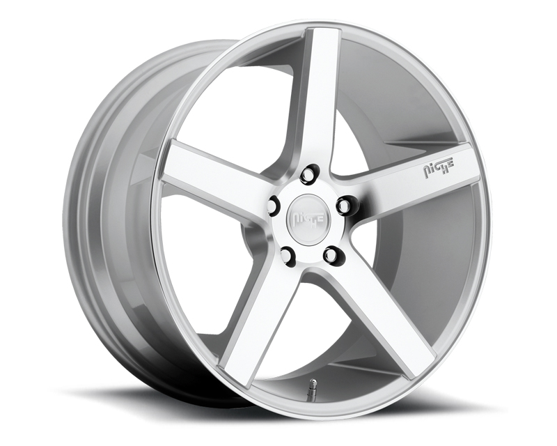 Niche Milan M135 Silver Machined Wheel 22x10.5 5x130 +50mm - M135220530+50