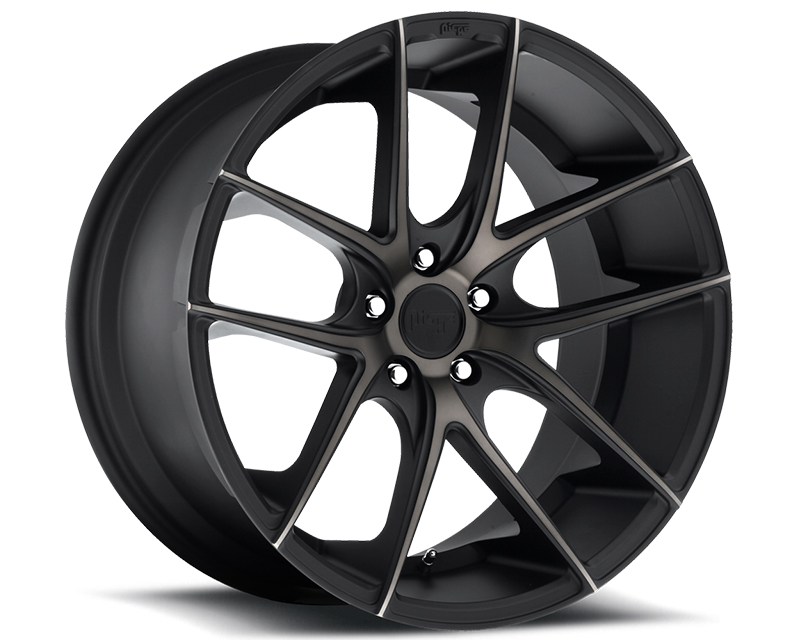 Niche Targa M130 Black Machined Wheel 18x8 5x120 +40mm - M130188021+40