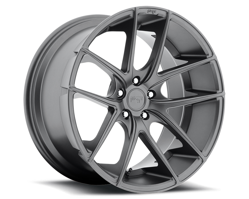 Niche Targa M129 Anthracite Wheel 17x8 5x120 +40mm - M129178021+40