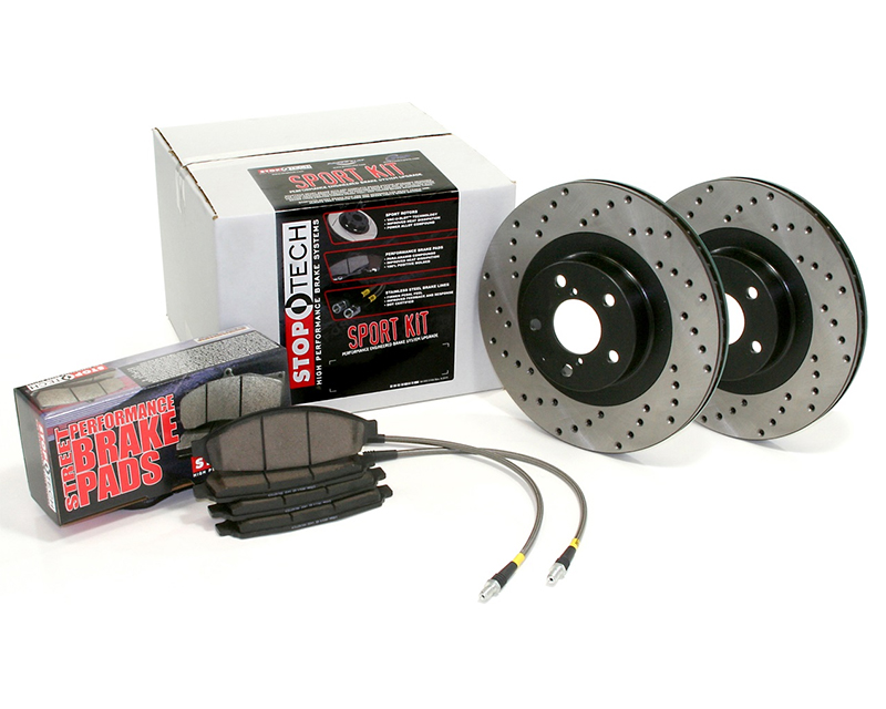 StopTech Sport Brake Kit Drilled Front and Rear Honda Accord EX 2010