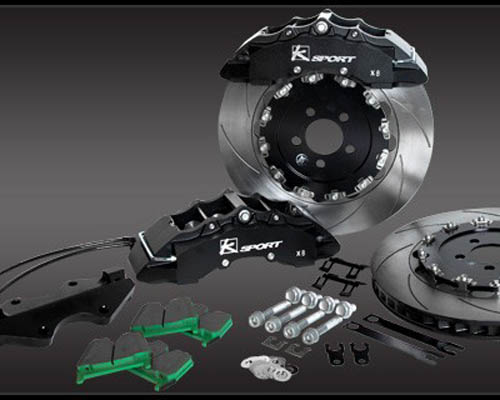 Ksport SuperComp 8 Piston 17in Front Big Brake Kit Nissan 350z 03-08