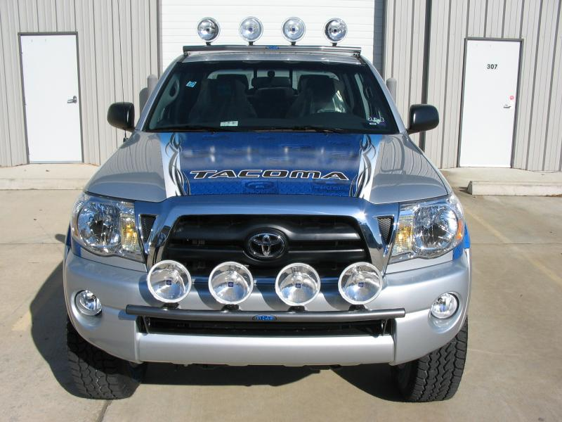 N Fab Textured Black Light Tabs Light Bar Toyota Tacoma 05 11