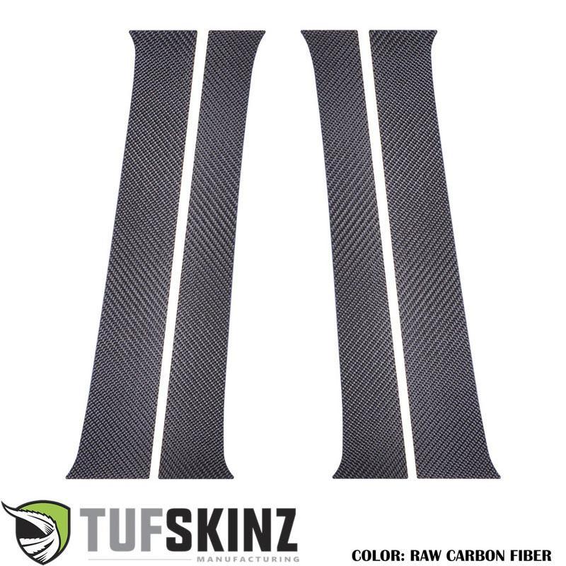 Tufskinz TAC013-RCF-X Door Pillars Fits 16-up Toyota Tacoma 4 Piece Kit Raw Carbon Fiber