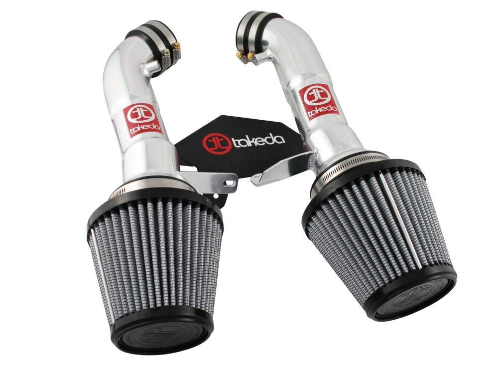 Takeda PDS Stage-2 polished Short Ram Air Intake System Infiniti G37 Coupe V6-3.7L 08-12 - TR-3008P