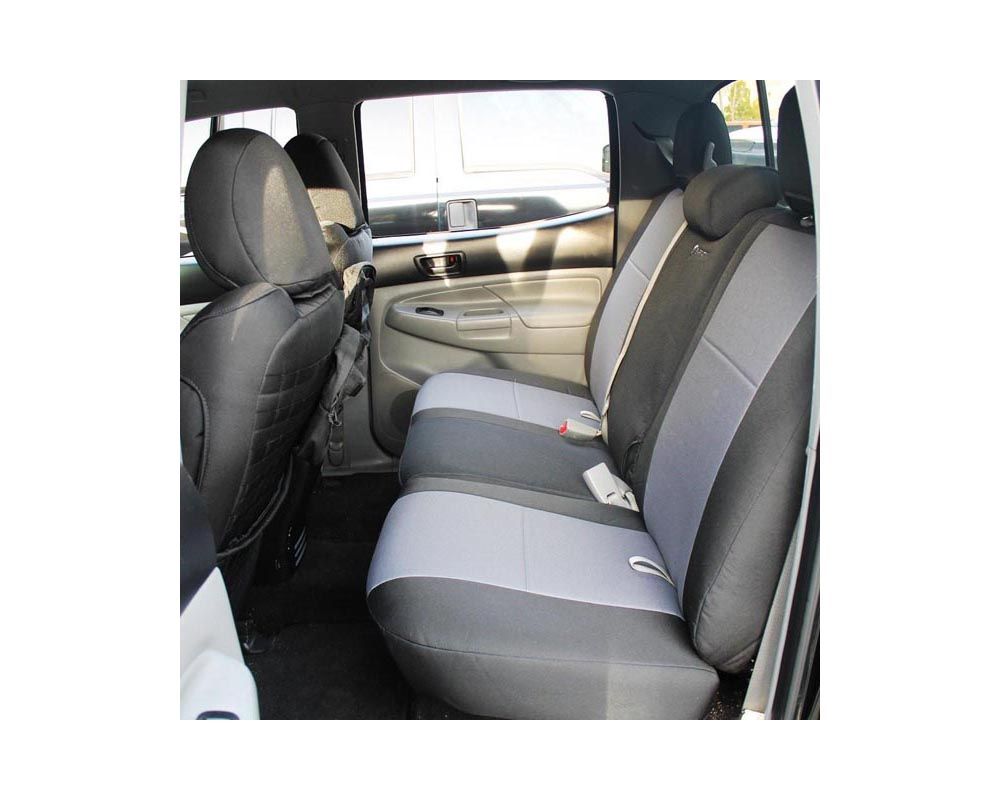 Bartact Black/Black Tactical Series Rear Bench Seat Cover Toyota Tacoma 2009-2015 - TRAC0508FPBB