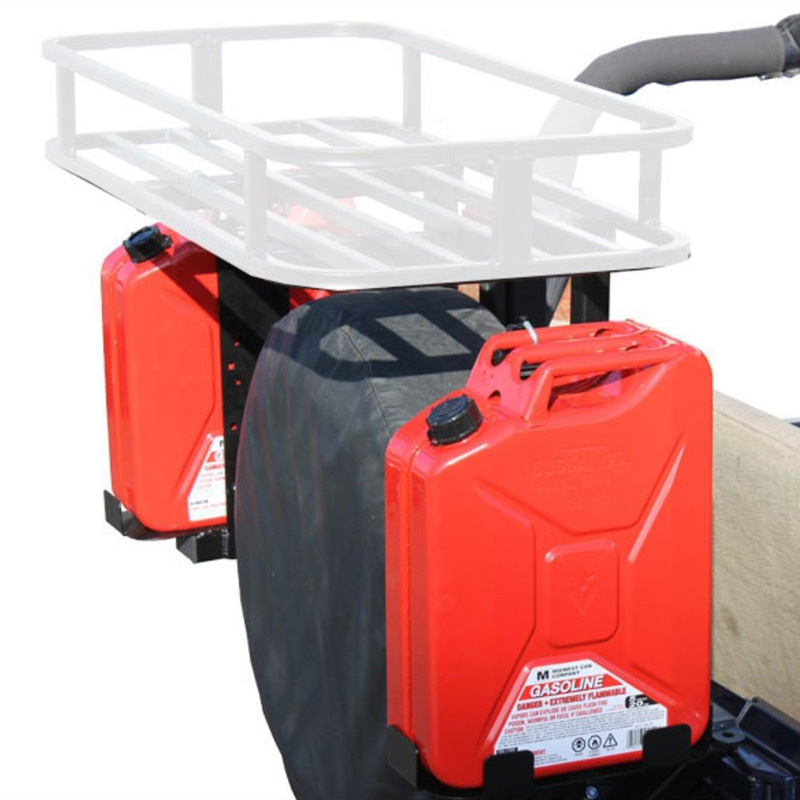 5 Gallon Jerry Can Mounts for Tire Carriers Fits Most 2 x 2 Inch Carriers Left and Right Tuff Stuff Overland - TS-TCJCM-R-L