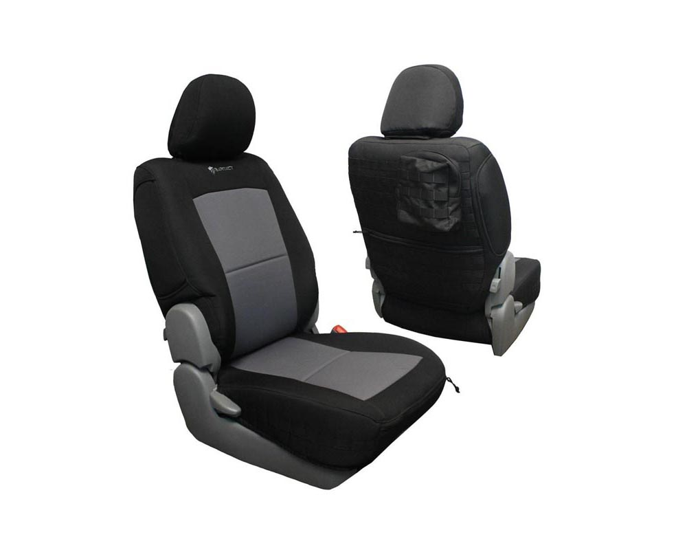 Bartact Black/Graphite Tactical Series Front Seat Covers Pair Toyota Tacoma 2009-2015 - TTAC0915FPBG