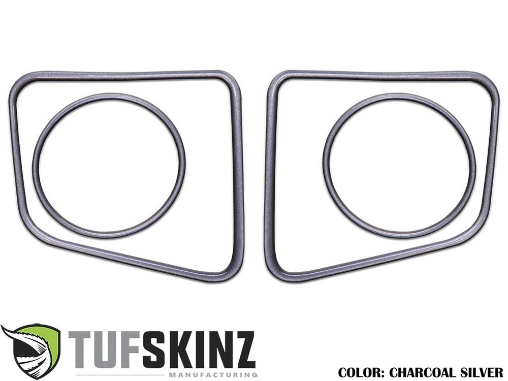 Tufskinz TUN006-CLG-G Fog Light Accent Kit Fits 14-up Toyota Tundra 4 Piece Kit Charcoal Silver