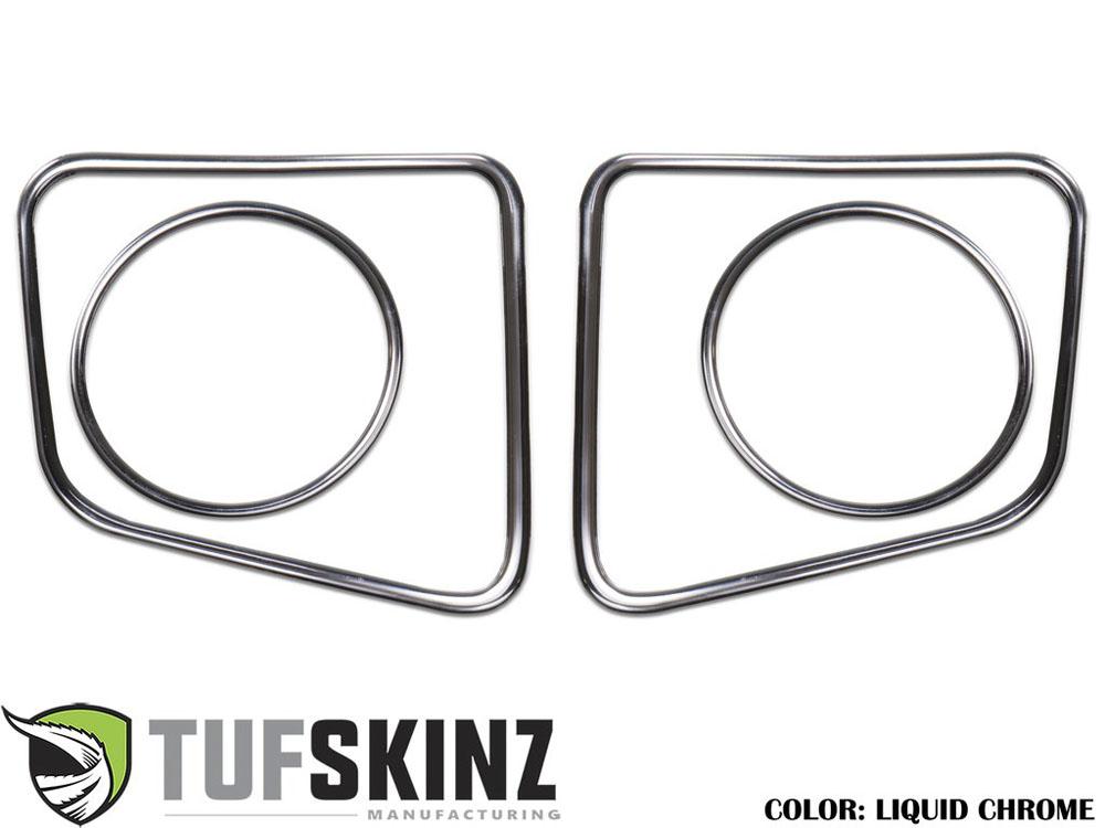 Tufskinz TUN006-DC-G Fog Light Accent Kit Fits 14-up Toyota Tundra 4 Piece Kit in Liquid Chrome