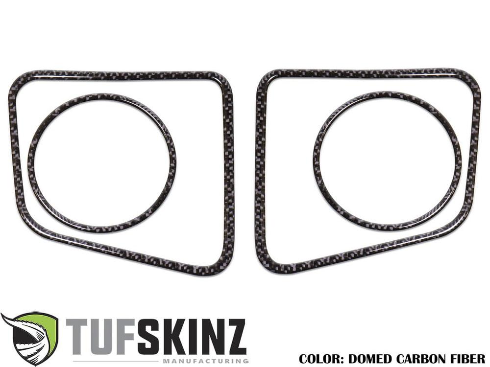 Tufskinz TUN006-DCF-G Fog Light Accent Kit Fits 14-up Toyota Tundra 4 Piece Kit Domed Carbon Fiber