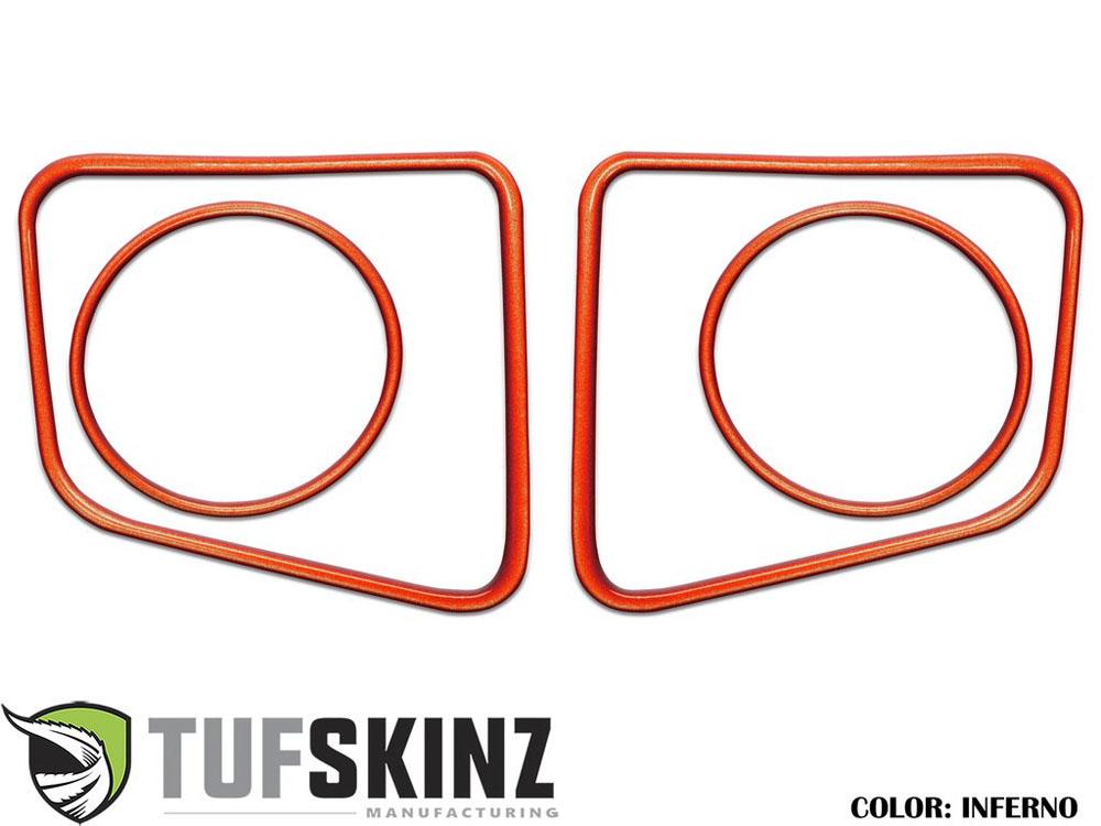 Tufskinz TUN006-FNO-G Fog Light Accent Kit Fits 14-up Toyota Tundra 4 Piece Kit in Inferno Orange