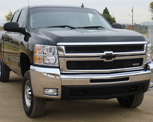 T-Rex Grilles Upper Class Small Mesh Steel Black Grille Chevrolet Silverado HD 07-10 - 51112