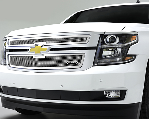 T-Rex Grilles Upper Class Small Mesh Stainless Polished Grille Chevrolet Tahoe 2015 - 54055