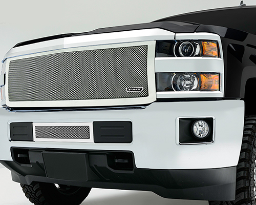T-Rex Grilles Upper Class Small Mesh Stainless Polished Grille Chevrolet Silverado HD 2015 - 54123