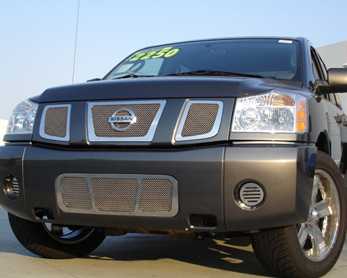T-Rex Grilles Upper Class Small Mesh Stainless Polished Grille Nissan Armada 04-07 - 54780