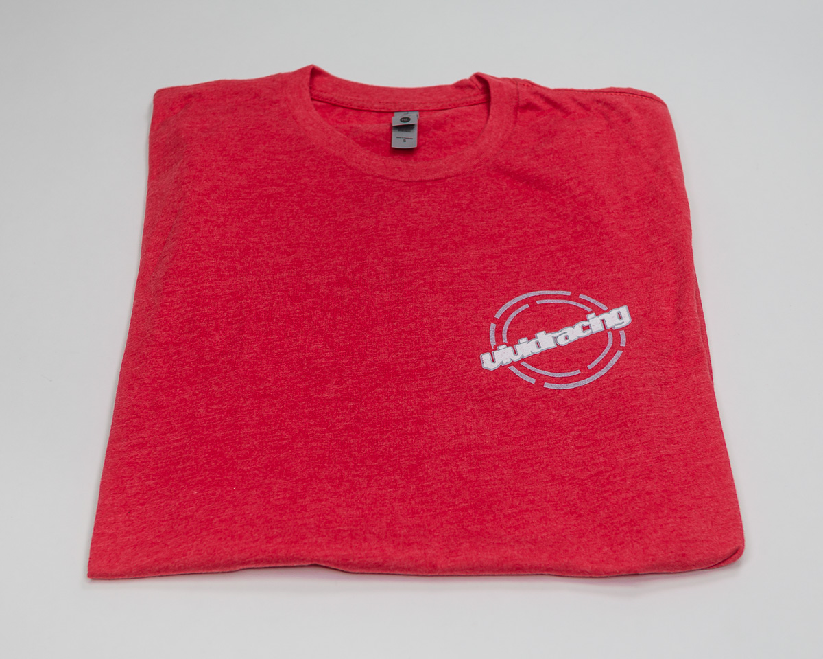 Vivid Racing T-Shirt Round Chest Logo Mens Red - VR-TSHIRT-RD-R-XS
