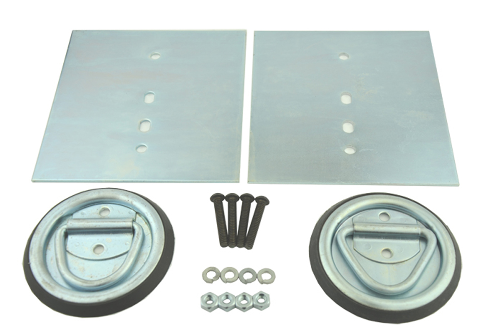 D-Ring Surface Mount 12000 LB W/Hardware Kit 2 Pack Snappin Turtle - V4116