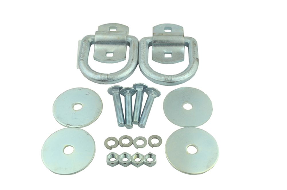 Tie Down Anchor D-Ring Surface Mount 12K 2 Pack Snappin Turtle - V4152