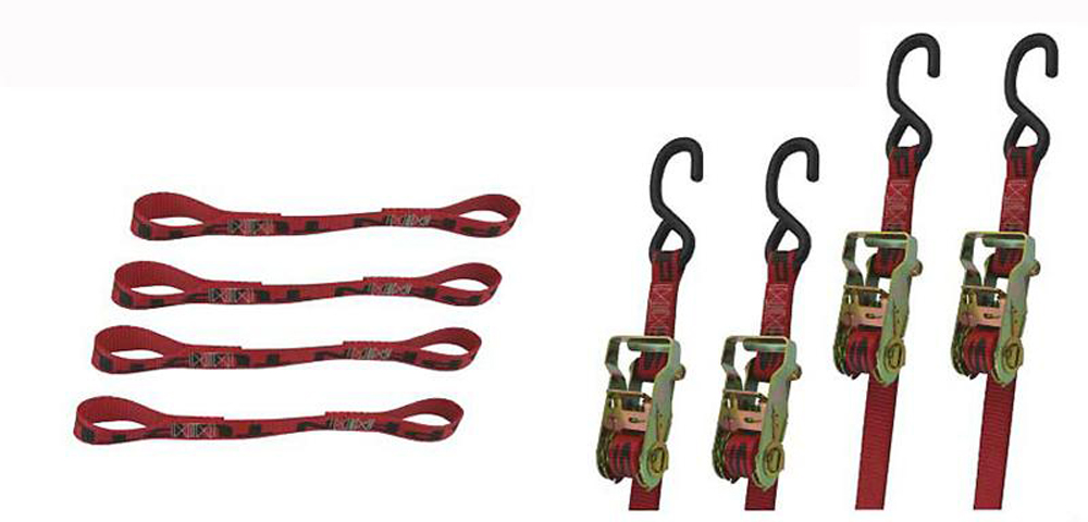 Tie Down Kit Truck Bed ST Kit Incl. 2 Of Each 9/12 Foot Ratchet W/S Hooks 4 Of Each 14 Foot Soft Loops Snappin Turtle - V8030
