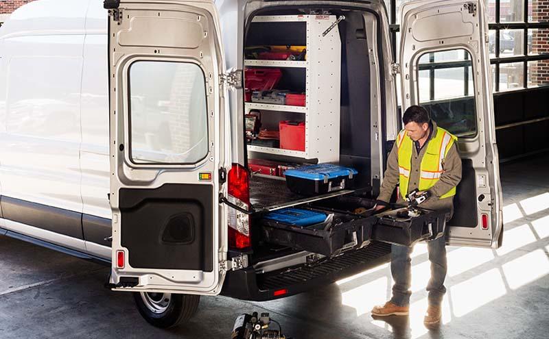 Decked Cargo Van Storage System 14-Pres Ford Transit 148 FT - VNFD13TRAN65