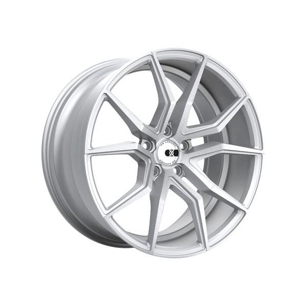 XO Luxury Verona 22x9.0 5x120 +20 Silver W/Brushed Face - 2290VER205120S72