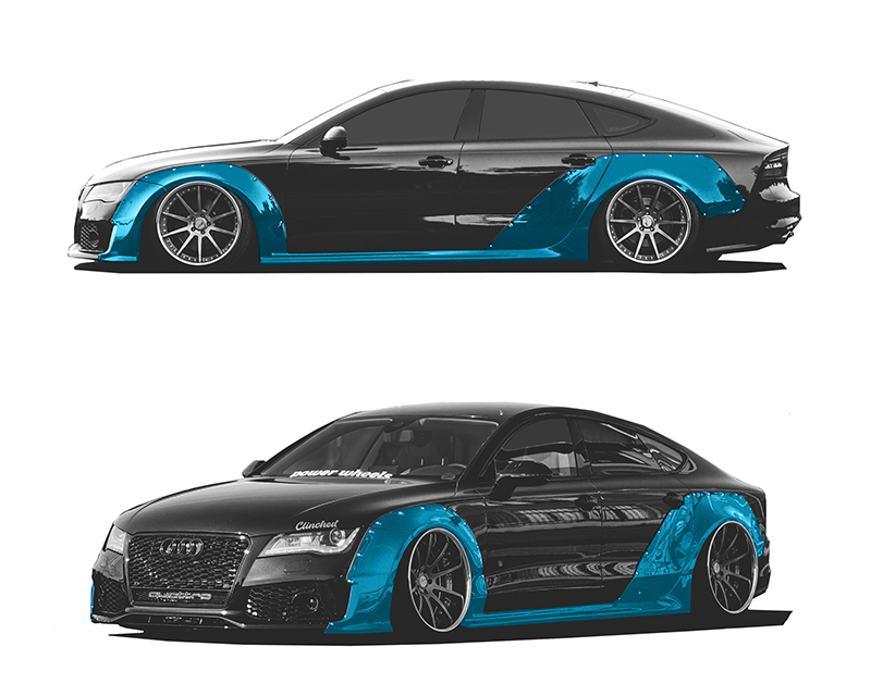 Clinched Flares Widebody Kit with Ducktail Spoiler Audi A7 | RS7 11-18 - WBA7