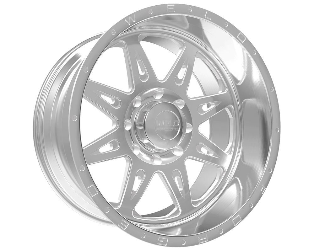 Weld Racing XT Cheyenne 20x12 5x4.5 -51mm Brushed w/Tinted Clear Lip w/Rivets & Text - 80D3-21254-519N