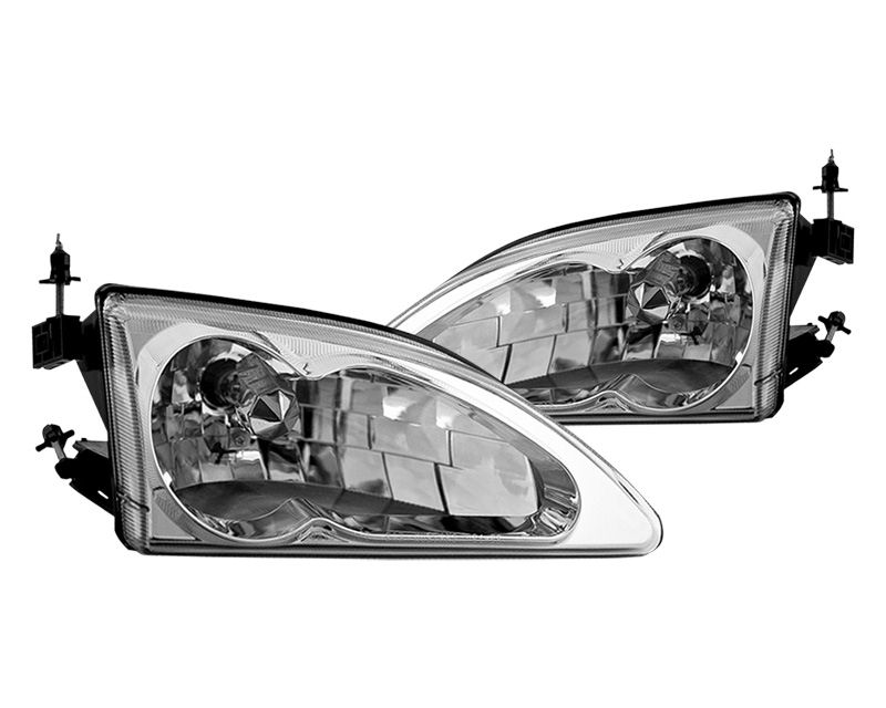 Winjet Clear Chrome OEM Style Head Lights Ford Mustang Cobra 94-98 - WJ10-0213-01