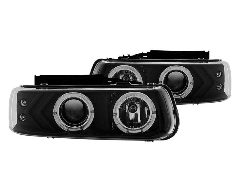 Winjet Clear Black Halo Projector Head Lights Chevrolet Silverado 2500 99-02 - WJ10-0214-04