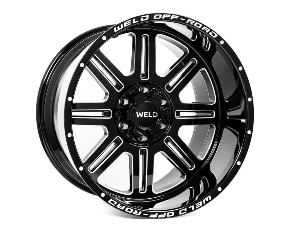 Weld Racing Chasm Wheel 20x9 8x165.1 00mm Gloss Black Milled - W10309082500