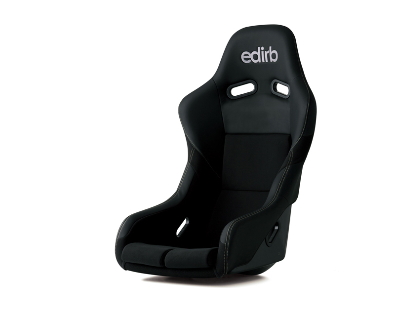 Image of edirb 042 Carbon Full Bucket Racing Seat with Silver Stitching FIA Approved