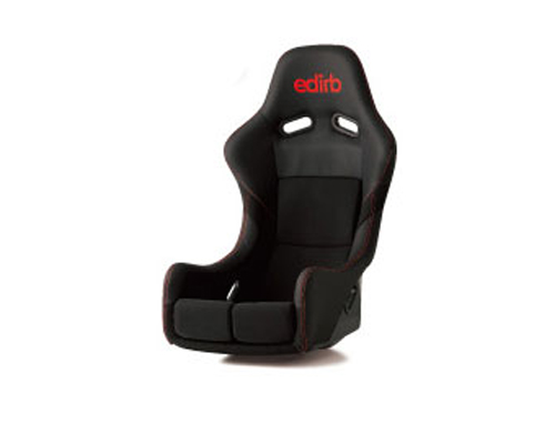 Image of edirb 061 Carbon Full Bucket Racing Seat with Red Stitching FIA Approved