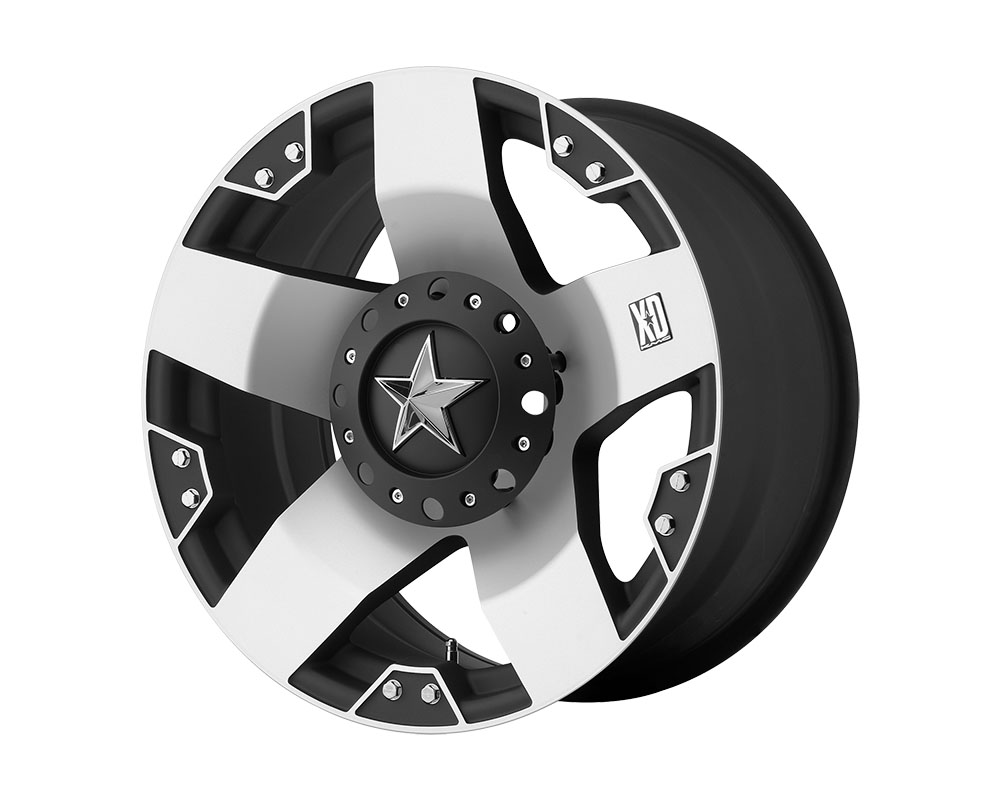 XD Series XD775 Rockstar Wheel 20x8.5 6x6x135/6x139.7 +35mm Machined Face w/Matte Black Windows - XD77528566535