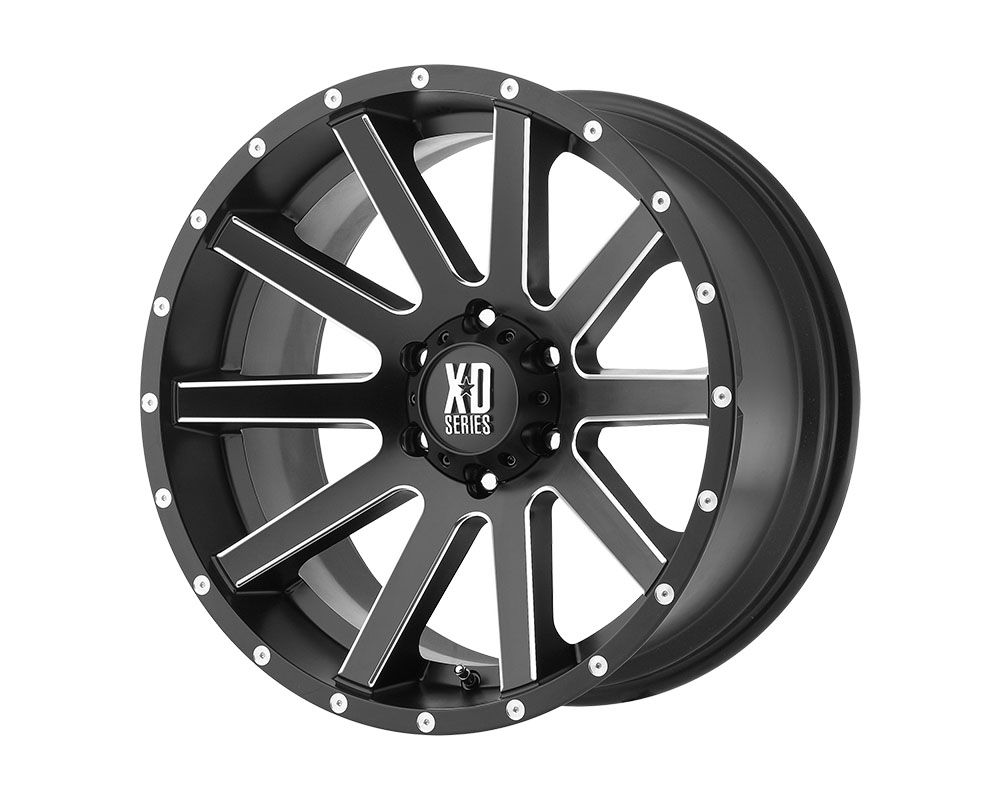 XD Series XD818 Heist Wheel 18x9 6x6x139.7 +30mm Satin Black Milled - XD81889068930