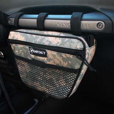 Jeep Wrangler Dash Bag Passenger Grab Handle Dash Bag Vinyl ACU Camo Bartact - XXDHBVA