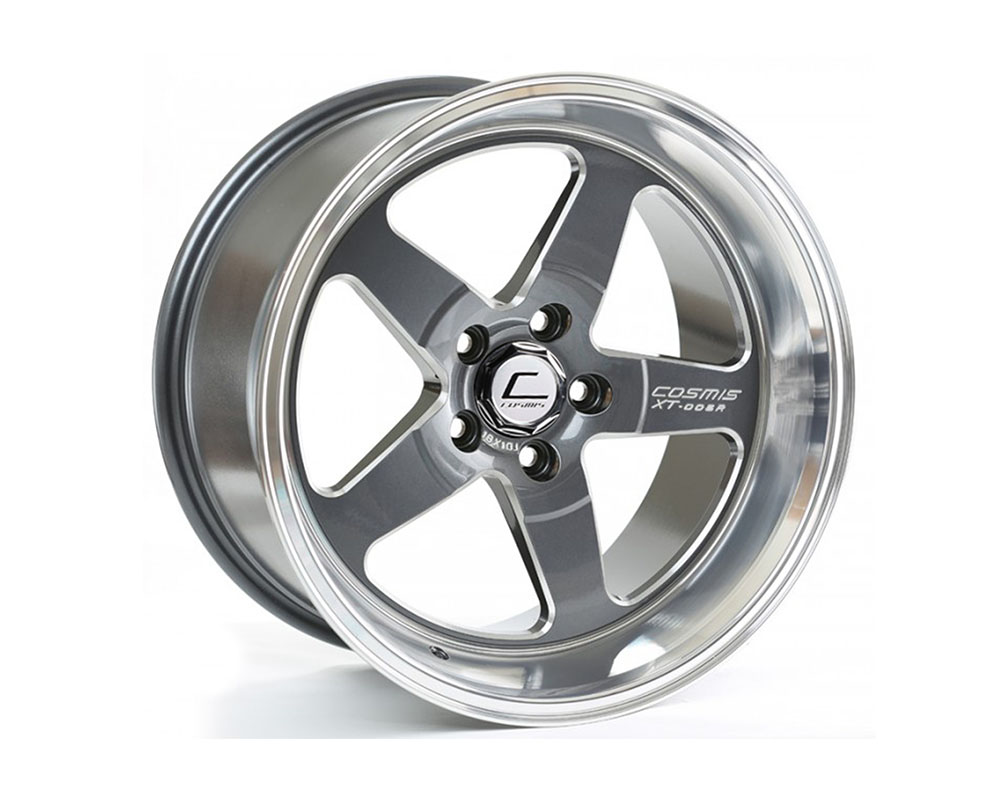 Cosmis Racing XT-005R Wheel 18x10 5x114.3 +20mm Gun Metal w/ Machined Lip - XT005R-1810-20-5x114.3-GMML