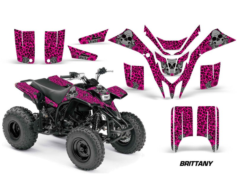 AMR Racing ATV Graphics Kit Quad Decal Wrap BRITANNY PINK Yamaha Blaster  YFS200 88-05