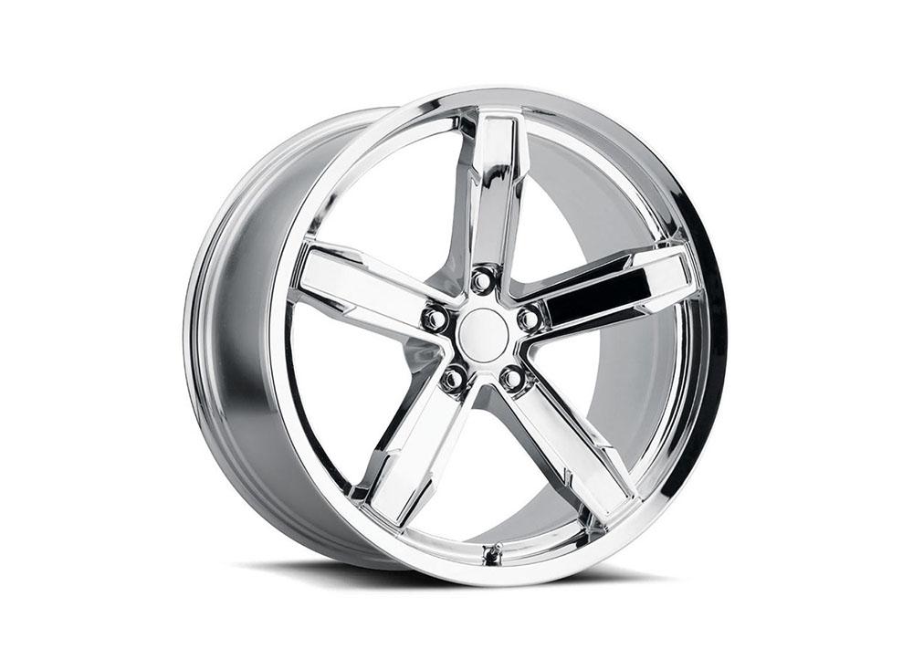 Factory Reproduction Iroc Wheels 20X11 5X120 +43 Chrome w/ Cap FR Series Z10 - Z10011433401