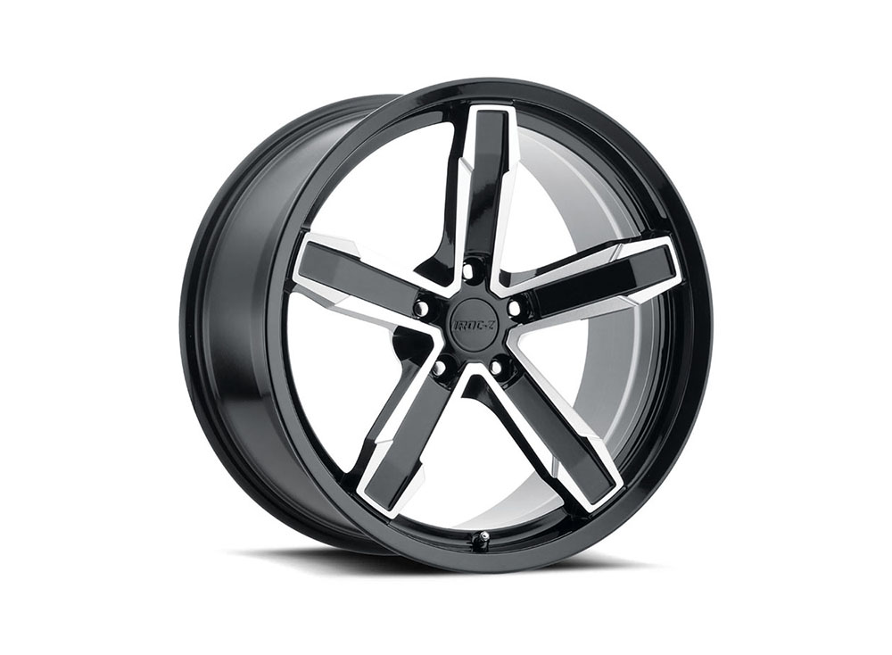 Factory Reproduction Iroc Wheels 20X11 5X120 +43 Gloss Blk/MF w/ Cap FR Series Z10 - Z10011433407
