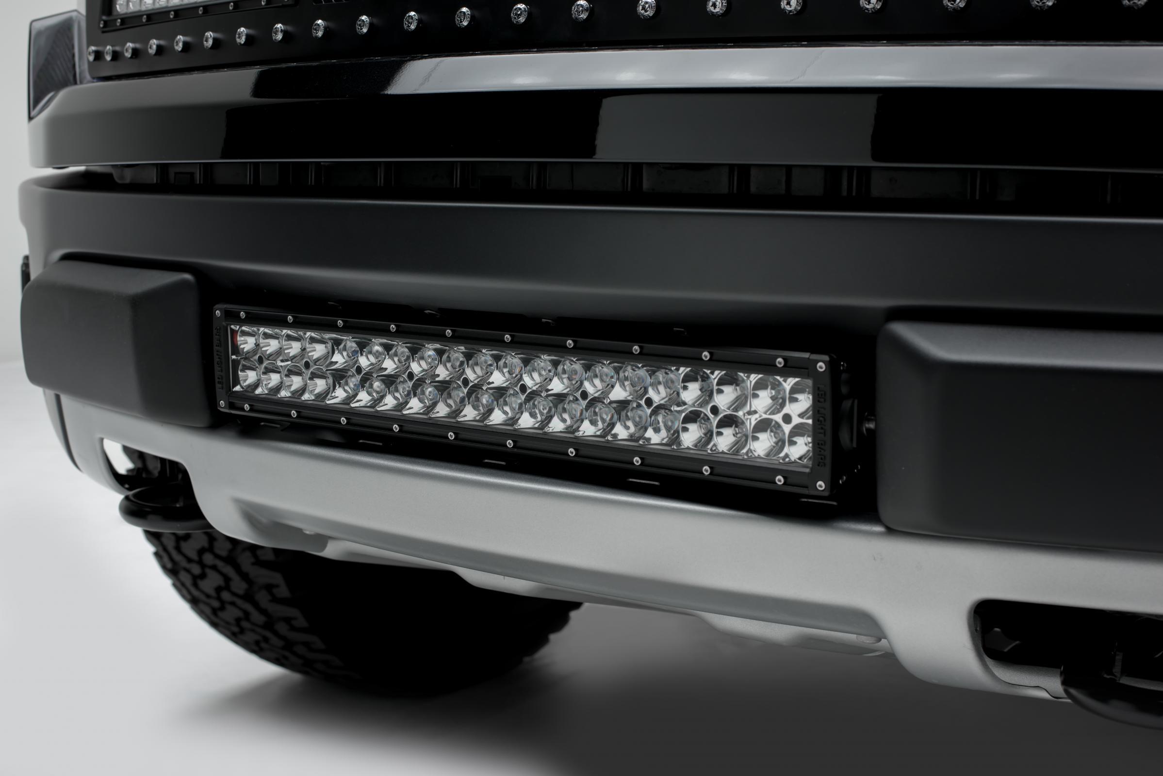 Front Bumper Center Opening LED Light Bar Mount Kit 10-14 Ford F-150