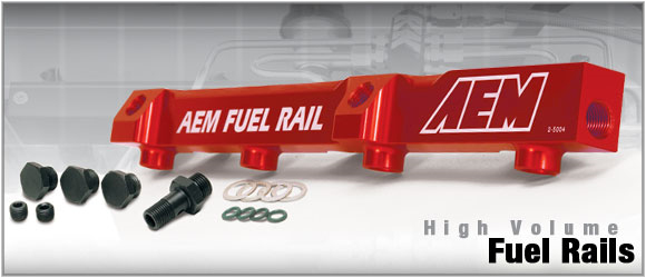 AEM High Volume Fuel Rails Honda Civic Si K20 02-05 - 25-111BK