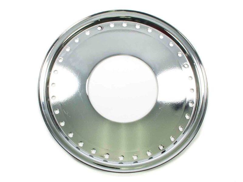 Aero Race Wheels  Mud Buster 1pc Ring and Cover Chrome - 54-500000