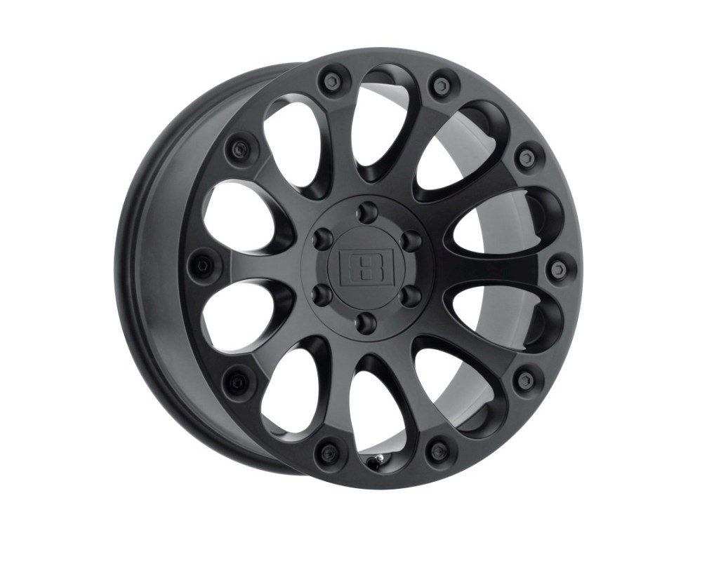 Level 8 Impact Wheel 17x8.5 6x139.70|6x5.5 -12mm Matte Black - 1785LIM-26140M12
