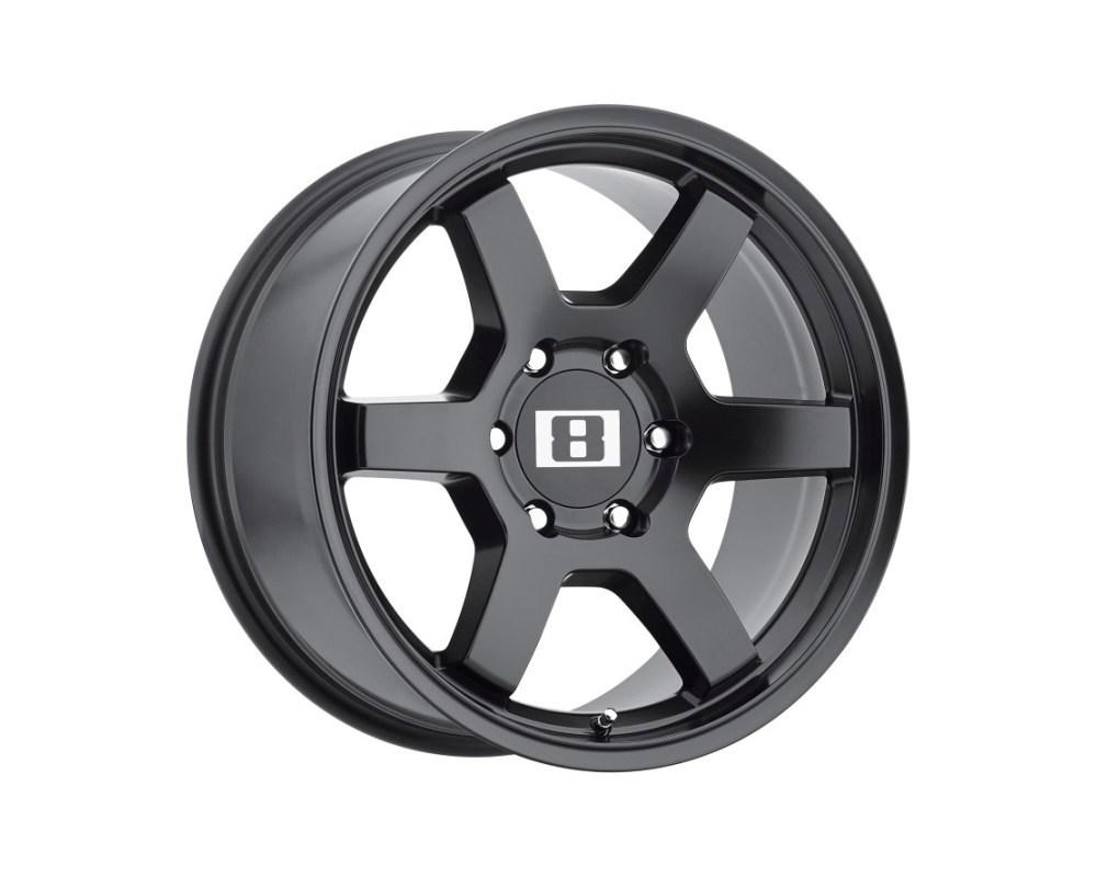 Level 8 MK6 Wheel 17x8 6x139.70|6x5.5 -10mm Matte Black - 1780MK6-16140M06
